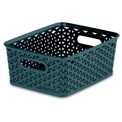 Cube Storage Bin - Cloudy Turquoise - Room Essentials™ - image 1 of 1