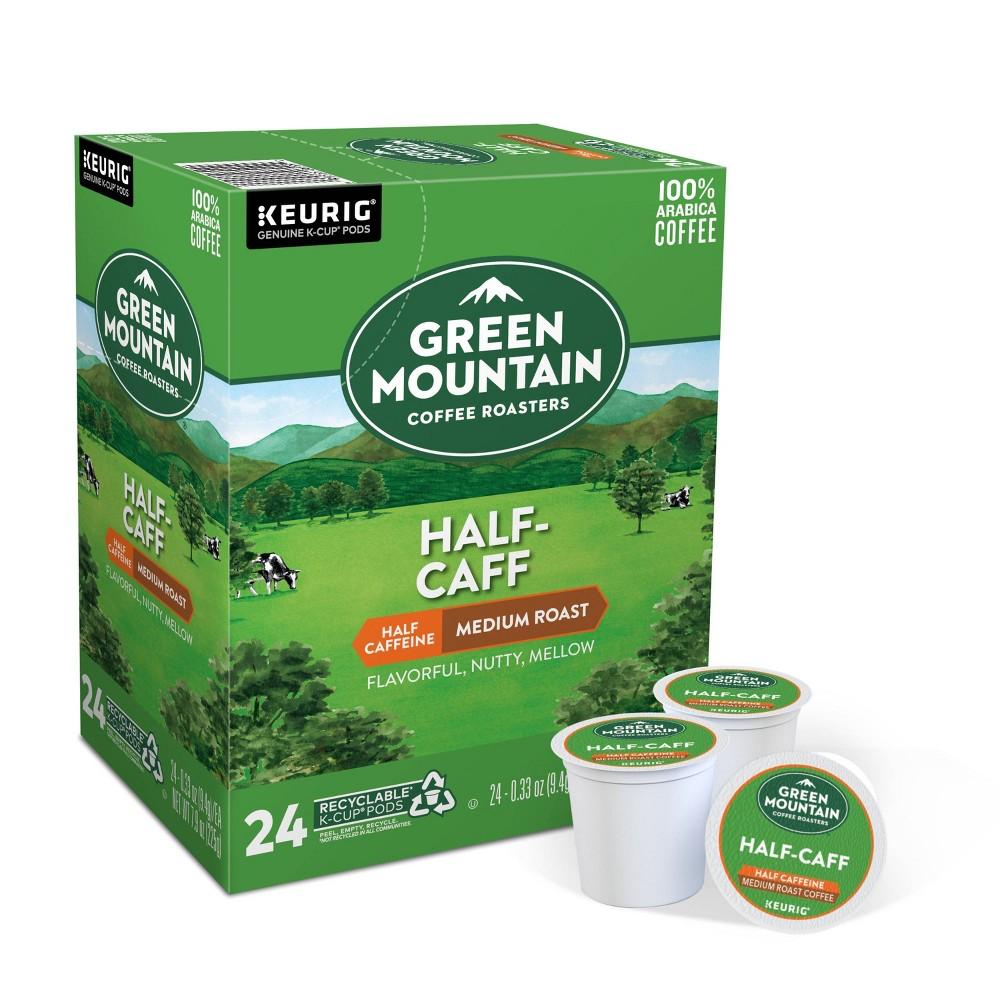 Green Mountain Coffee Half Caff Keurig K Cup Coffee Pods Medium Roast 24ct