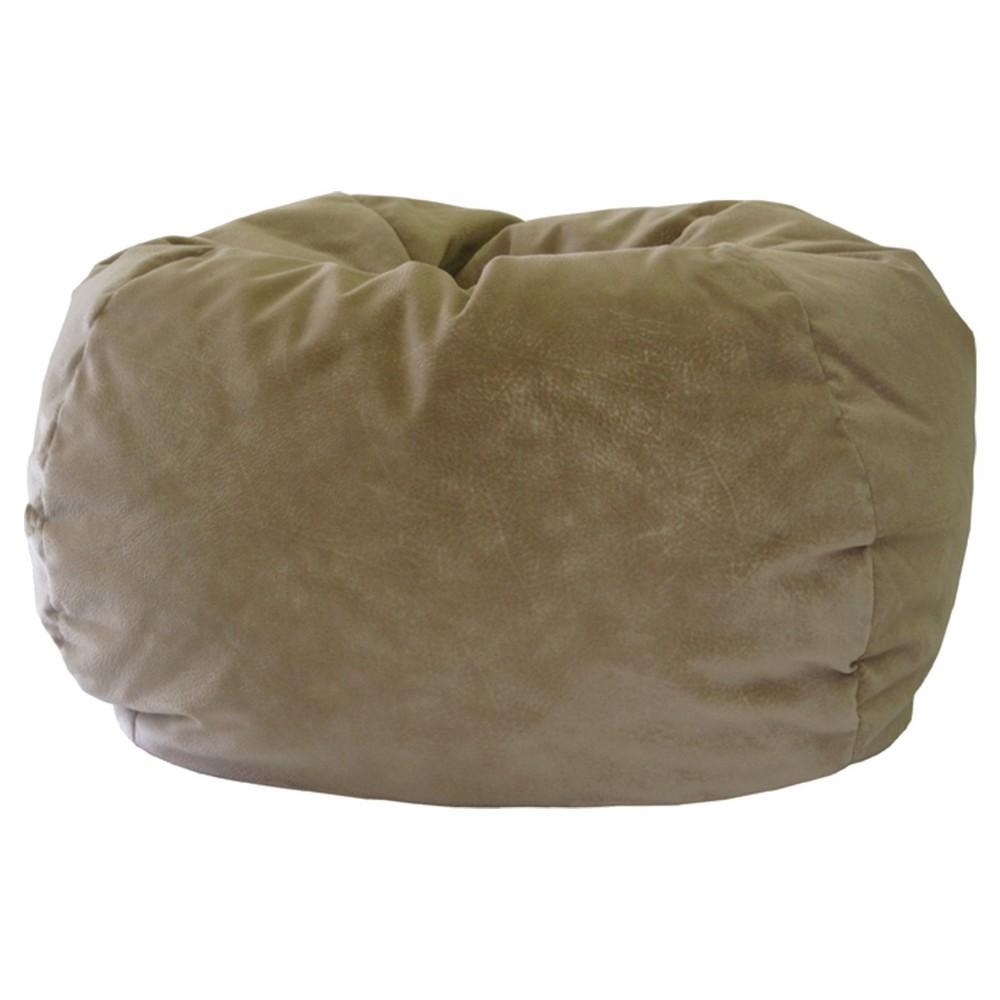 Gold Medal Micro-Fiber Suede Bean Bag Chair - Khaki (Green)