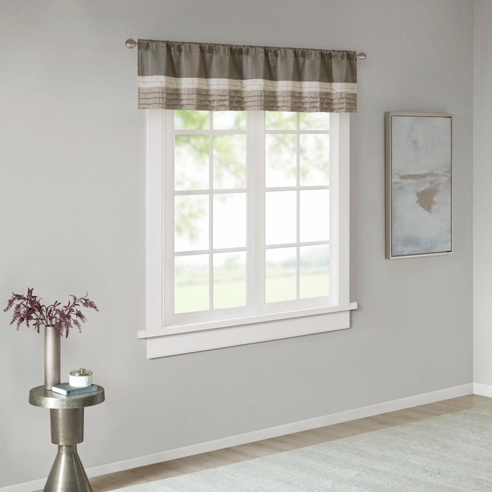 Salem Polyoni Pintuck Window Valance Natural (50