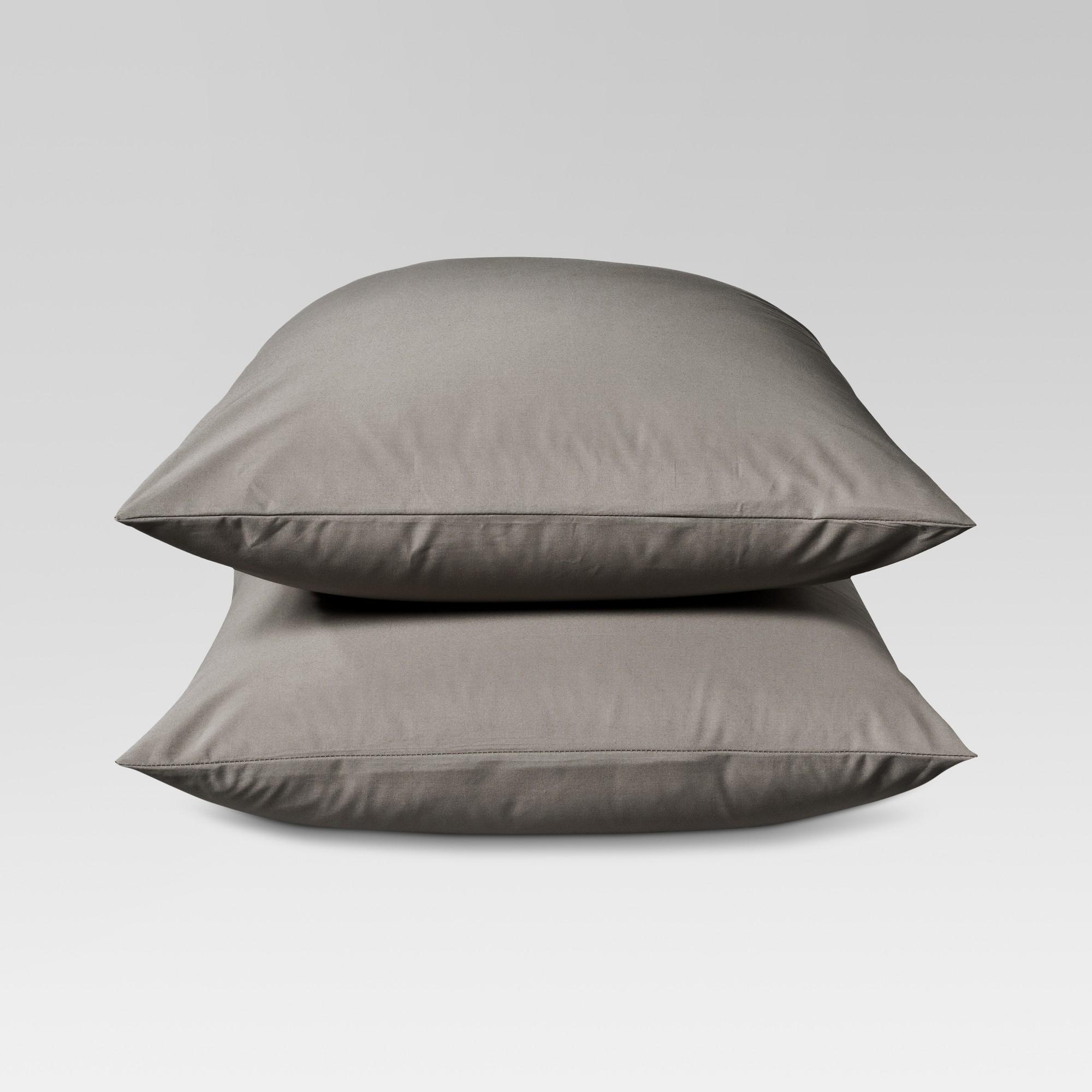 Ultra Soft Pillowcase (Standard) Radiant Gray 300 Thread Count - Threshold