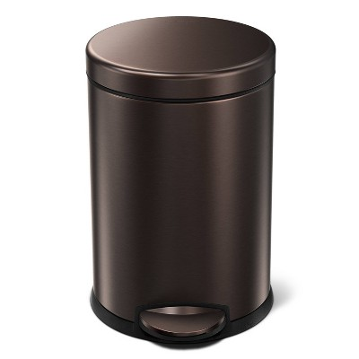 4.5L Round Step Can Bronze - simplehuman