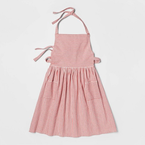 Cotton Striped Apron Red - Threshold™ - image 1 of 4