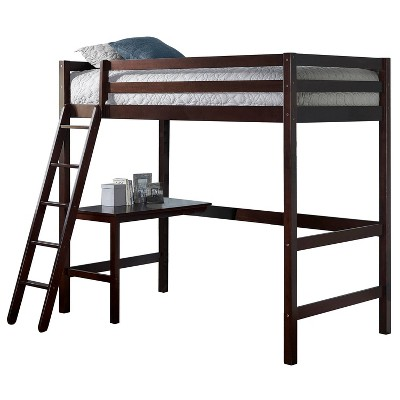 Kids' Twin Caspian Study Loft Chocolate - Hillsdale Furniture