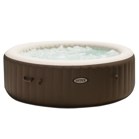 Intex Purespa 85 Inch Bubble Jet Massage 6 Person Inflatable Round Hot Tub Spa - image 1 of 6