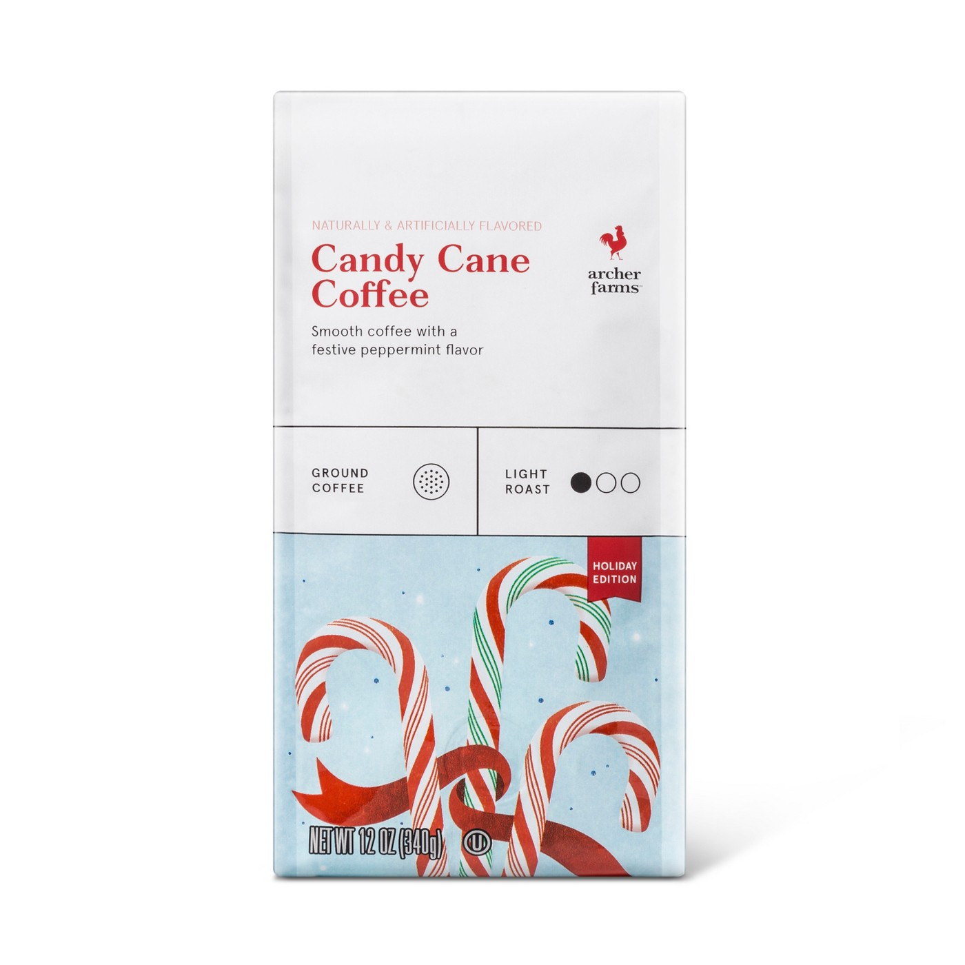 Candy Cane Ground Light Roast Coffee - 12oz - Archer Farms™ - image 1 of 2