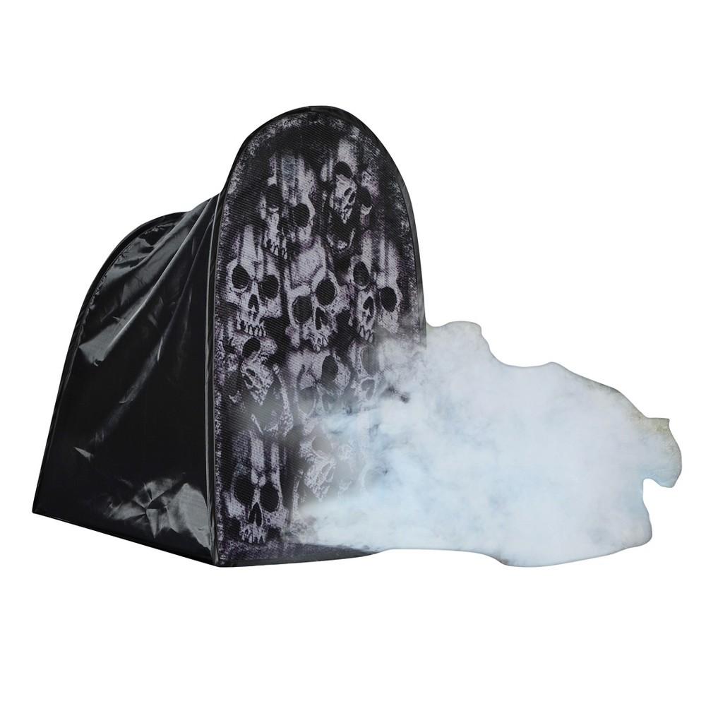 "Image of ""24"""" Halloween Tombstone Skulls Fog Machine Accessory"""