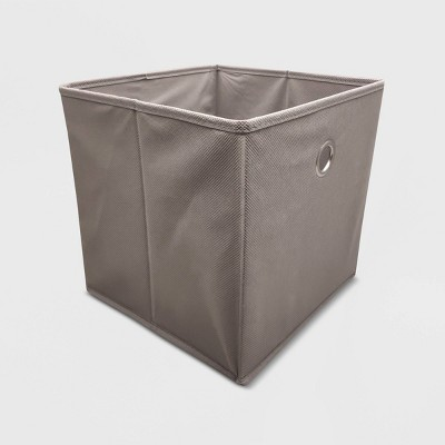 "11"" Fabric Cube Storage Bin Gray - Room Essentials™"