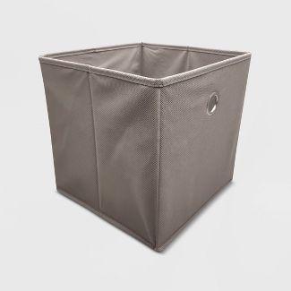 "11"" Fabric Cube Storage Bin Gray - Room Essentials™"