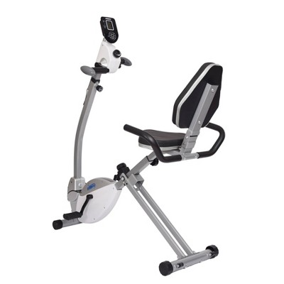 Stamina Recumbent Exercise Bike with Upper Body Exerciser - Chalk White