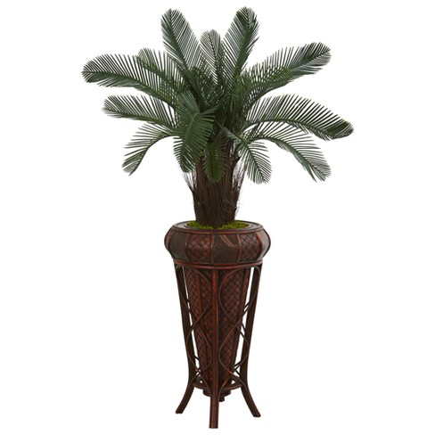 4ft Cycas Artificial Tree In Decorative Stand - Nearly Natural - image 1 of 1