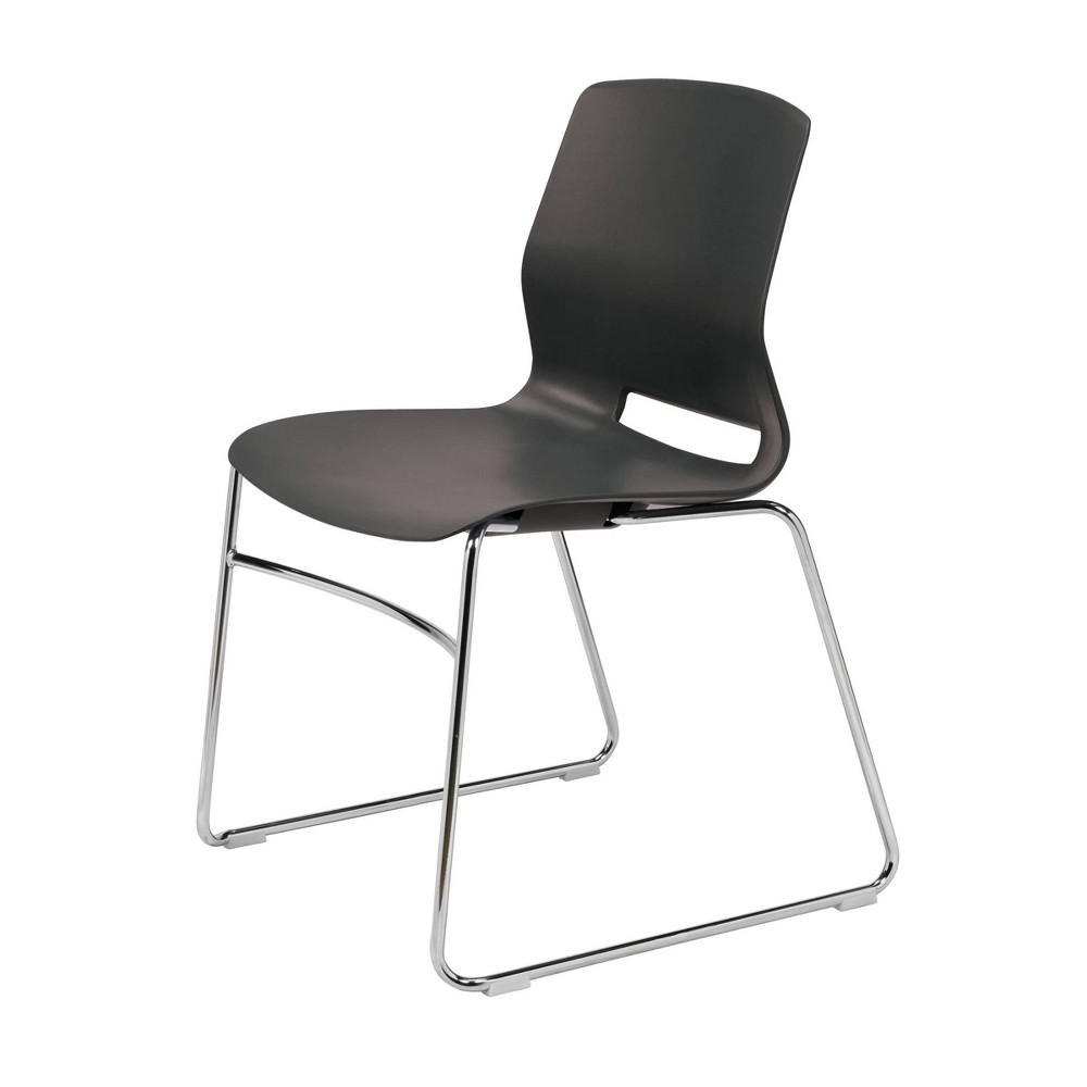 Lola Sled Base Office Stack Chair Black - Olio Designs