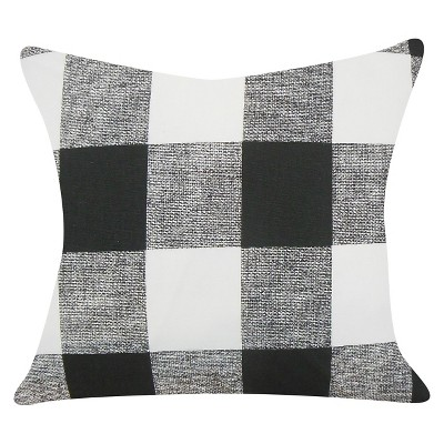 Buffalo Check Throw Pillow Black (18 x18 )- The Pillow Collection