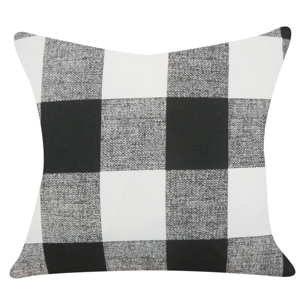 Buffalo Check Throw Pillow Black (18