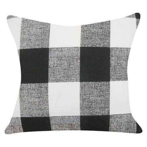 "Black Buffalo Check Throw Pillow (18""x18"") - The Pillow Collection - image 1 of 3"