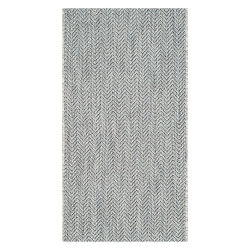 Courtyard Patio Rug - Gray / Navy - Safavieh® - image 1 of 1