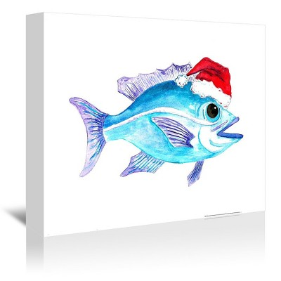 Americanflat Santa Fish 1 by T.J. Heiser Wrapped Canvas