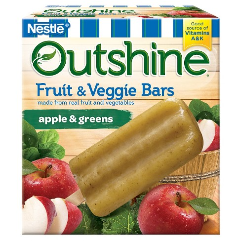 Outshine Apple & Greens Frozen Fruit Bar - 6ct - image 1 of 4
