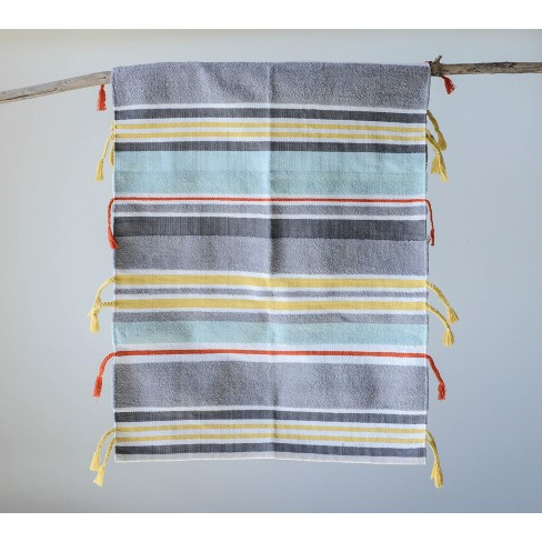 5' x 3' Striped Area Rug Gray/Blue/Yellow - 3R Studios - image 1 of 2