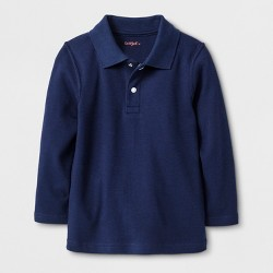 f8ae2f7a5 Boys' Adaptive Short Sleeve Polo Shirt - Cat & Jack™ Navy : Target