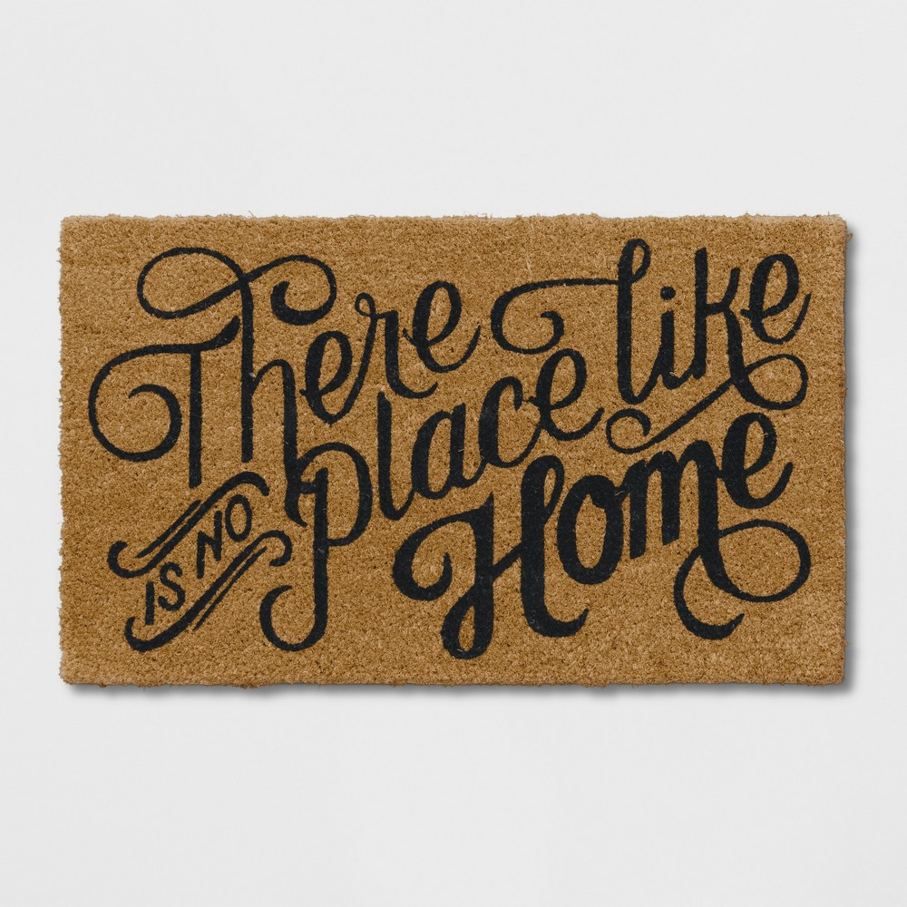 Quote Doormat Black