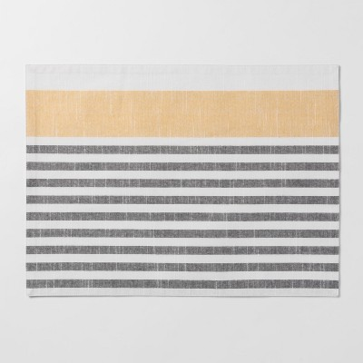 Gray With Yellow Stripe Placemat - Threshold™