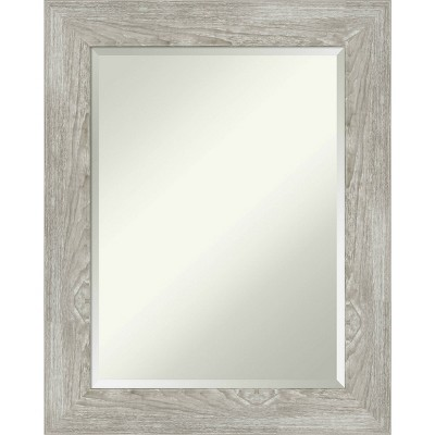 "24"" x 30"" Dove Graywash Framed Bathroom Vanity Wall Mirror - Amanti Art"