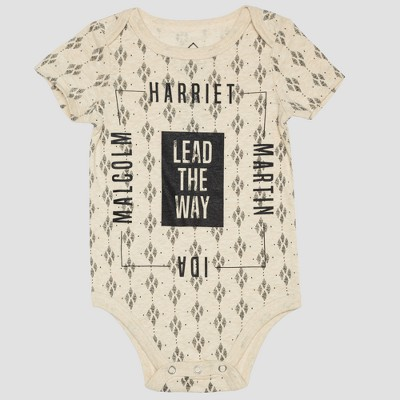 Well Worn African Print Child Bodysuit - Cream 12M