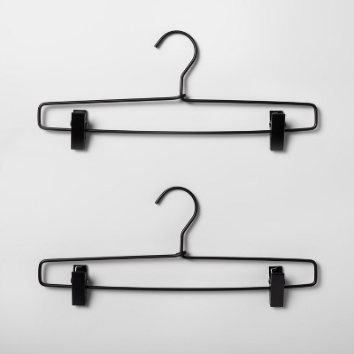2pk Metal Pant Hanger Black - Made By Design™