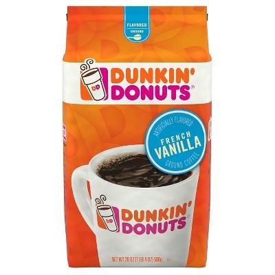 Dunkin' Donuts French Vanilla Medium Roast Ground Coffee - 20oz