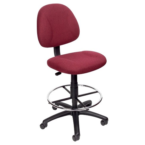 Drafting Stool with Footring Burgundy - Boss Office Products - image 1 of 1