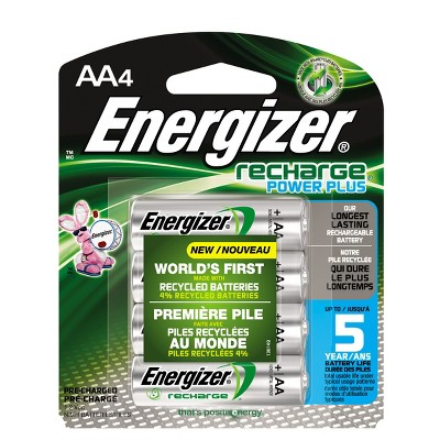 Energizer Recharge Power Plus AA Batteries 4 ct (NH15BP-4)