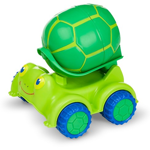 Melissa & Doug® Sunny Patch Snappy Turtle Cement Mixer Construction Vehicle - image 1 of 2