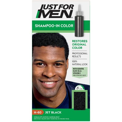 Just For Men Shampoo-In Color Gray Hair Coloring for Men - Jet Black - H-60