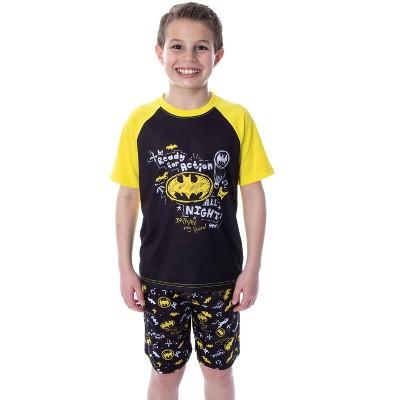 DC Comics Boys' Batman Ready For Action Shirt and Shorts 2 PC Pajama Set
