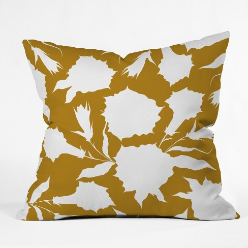 Iveta Abolina La Jardin Noir Throw Pillow Yellow Deny Designs Target