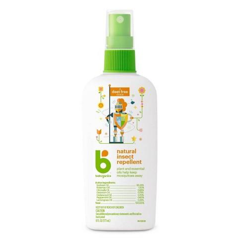 Babyganics Natural Deet Free Insect Repellent 6oz Spray Bottle
