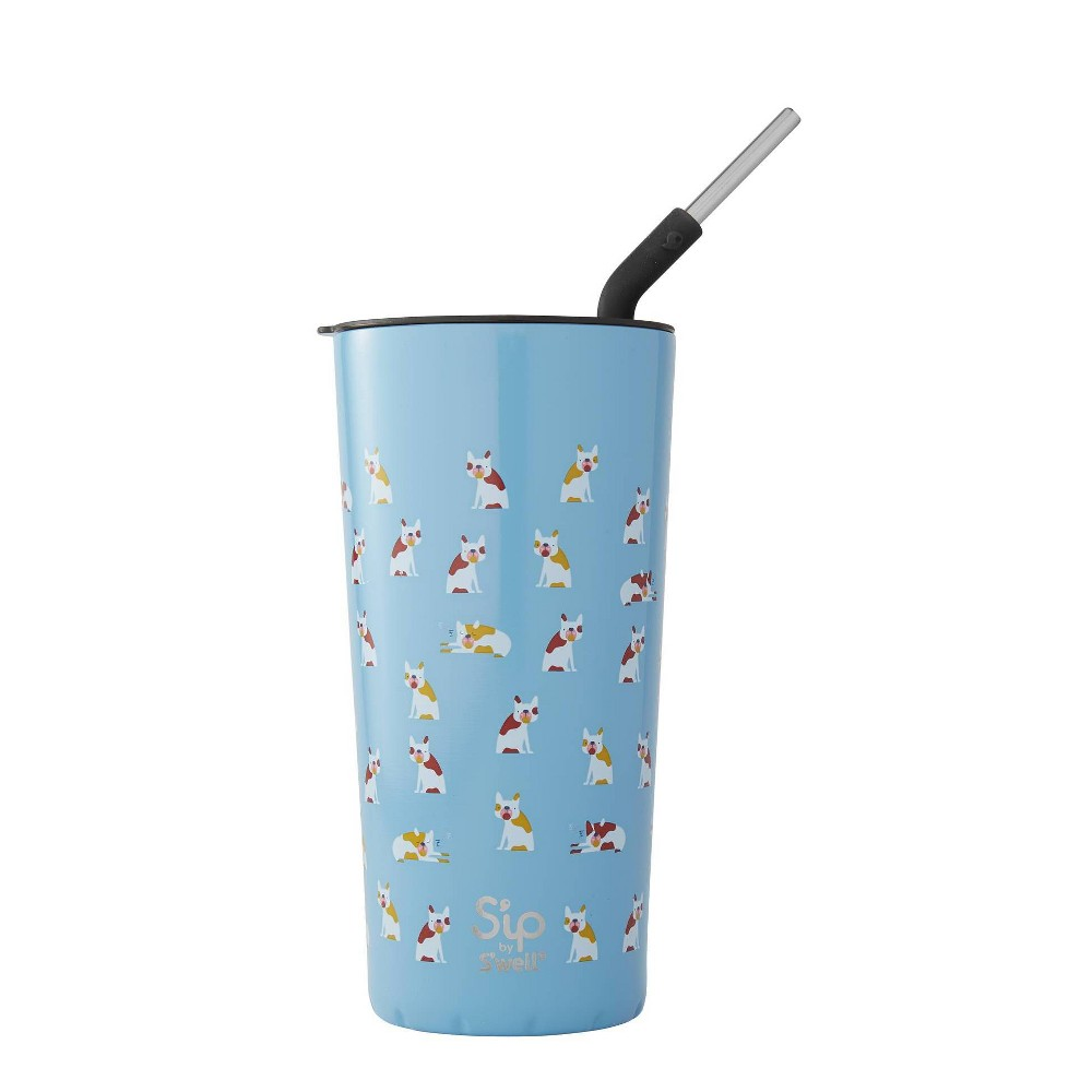 Image of S'ip by S'well Vacuum Insulated Stainless Steel Takeaway Tumbler with Stainless Steel Straw 24oz -Frenchies Forever