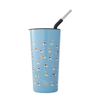 S'ip by S'well Vacuum Insulated Stainless Steel Takeaway Tumbler with Stainless Steel Straw 24oz -Frenchies Forever