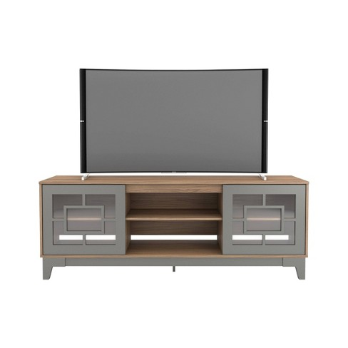 "72"" Magnolia Tv Stand Cinnamon/Gray - Nexera - image 1 of 4"