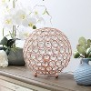 "8"" Elipse Crystal Ball Sequin Table Lamp Rose Gold - Elegant Designs - image 3 of 4"