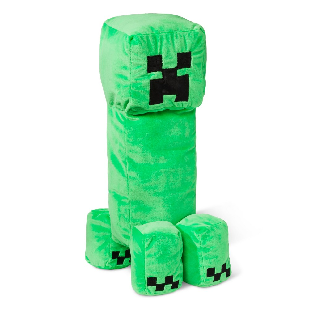 "Image of ""Minecraft Creeper 14""""x7"""" Pillow Buddy Green"""