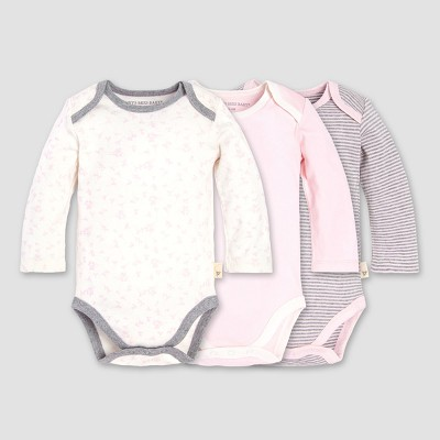 Burt's Bees Baby® Girls' Organic Cotton 3pk Dusty Dandelion BS Set - Blossom 3-6M