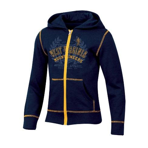29953e95ef1 West Virginia Mountaineers Girls  Long Sleeve Full Zip Hoodie   Target