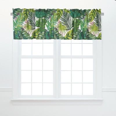 C&F Home Layla Tropical Cotton Valance Window Treatment Set of 2
