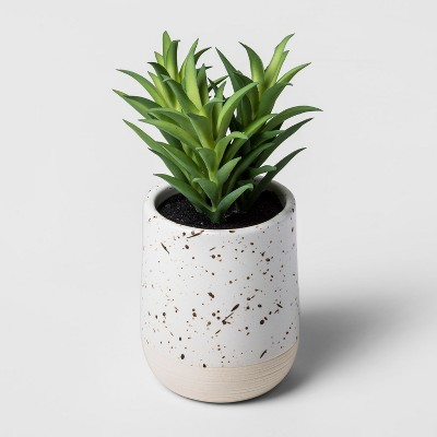 Faux Succulent in Speckled White Pot - Threshold™