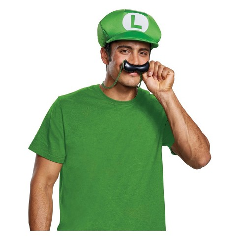 Luigi Hat And Mustache Child Boys Halloween Costume Accessories// Hats