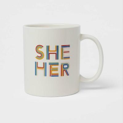 15oz Stoneware She Her Mug - Room Essentials™
