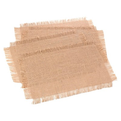 Fringed Jute Placemats Natural (Set of 4)
