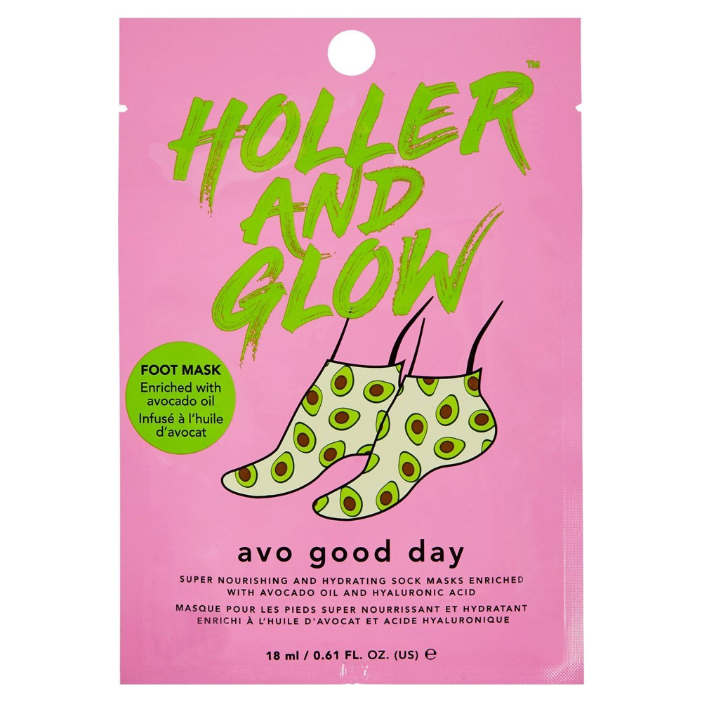 Image of Holler and Glow Avo Good Day Nourishing and Hydrating Foot Mask – 0.61 fl oz